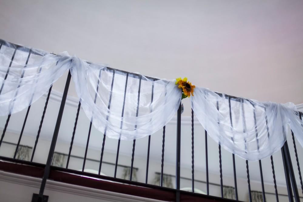 Organza Balcony Swags