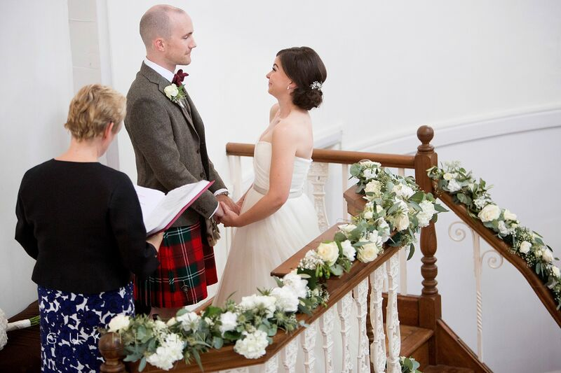 Pulpit Bride and Groom