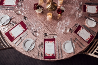 Rose Gold Wedding Place Settings