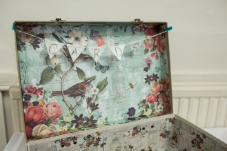 Vintage Wedding Card Suitcase